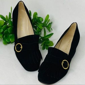 Marc Fisher leather upper block heel loafers SZ:6M